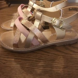 New Cat & Jack toddler size 9 girls sandals